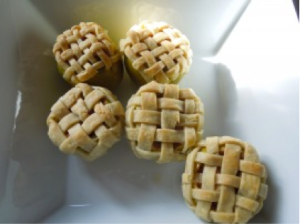 filled apple halves