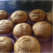 wheat germ and banana muffins
